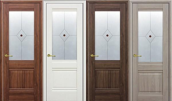 Двери из экошпона разных цветов
