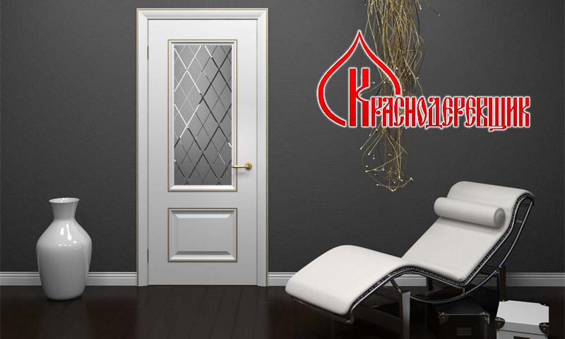 Белая дверь фабрики Краснодеревщик в интерьере