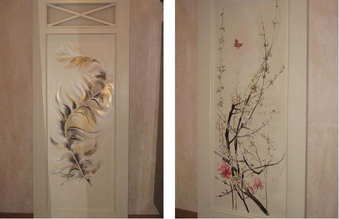 Художественная роспись на дверях