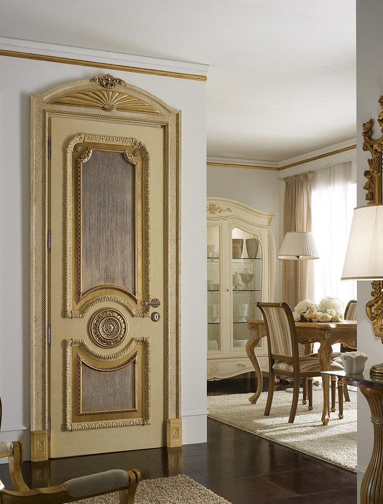 Дверь с декором под стиль модерн