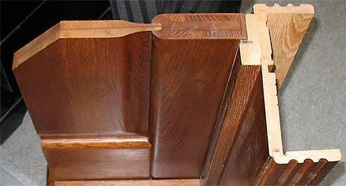 Строение двери из клеенного массива