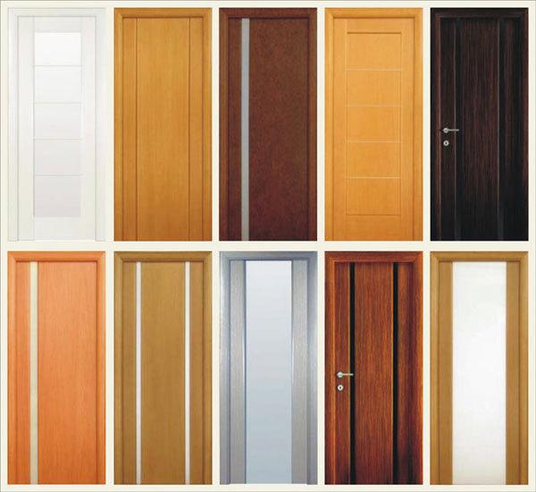 Разнообразные двери с ламинированной поверхностью