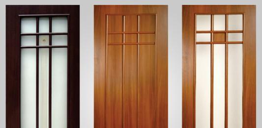 Внешний вид ламинированных дверей