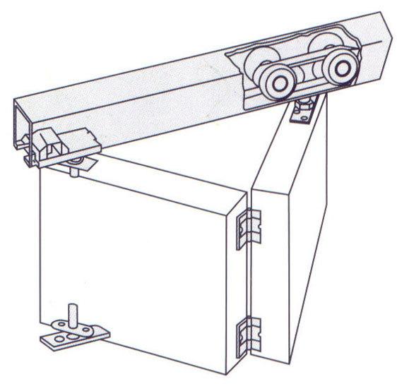 Принцип работы механизма двери-книжки