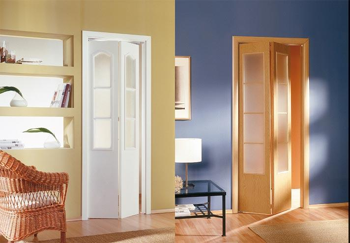 Двустворчатая складная дверная конструкция