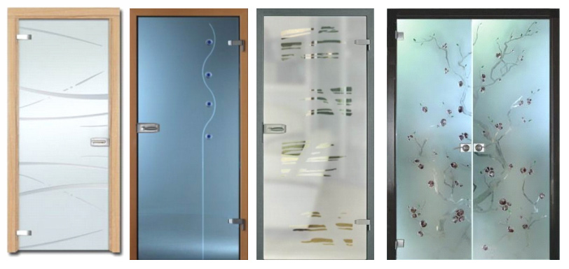 Разновидности дверей из стекла