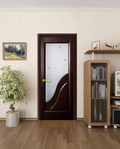 Дверь цвета венге в интерьере квартиры