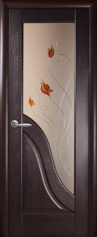 Дверь с рисунком на стекле