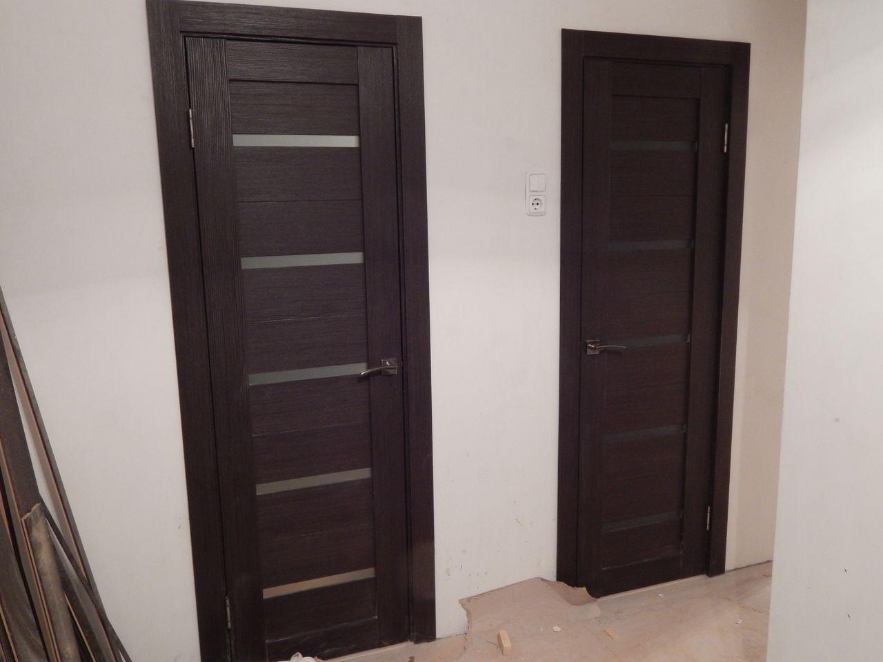Двери цвета венге