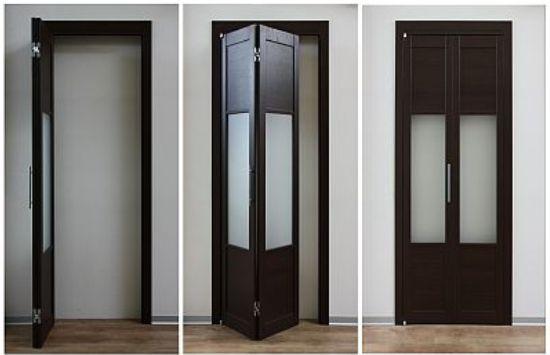 Двухсекционная складная дверь