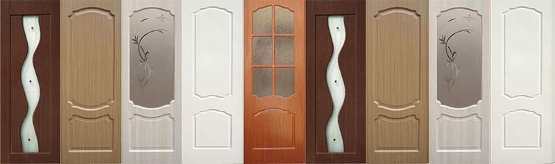 Двери из дерева со слоем ПВХ