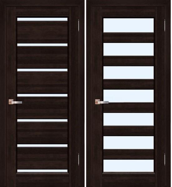 Исполнение дверей венге со стеклом