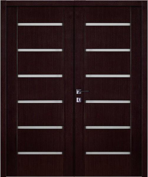 Двустворчатые двери венге