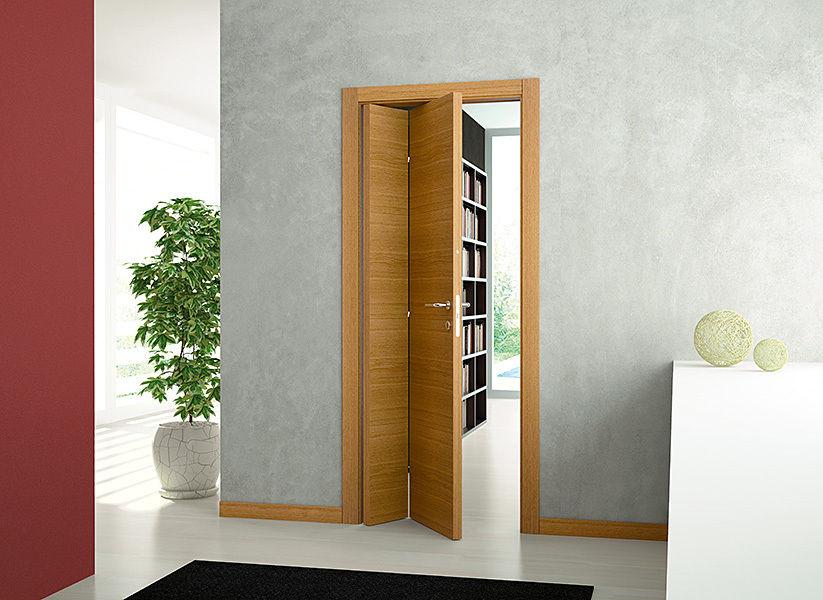 Вид двери книжки в квартире