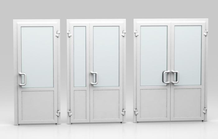 Пластиковые двери для административных зданий