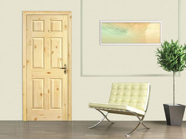 Двери из сосны в интерьере