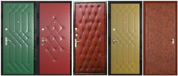Узоры на обивке дверей
