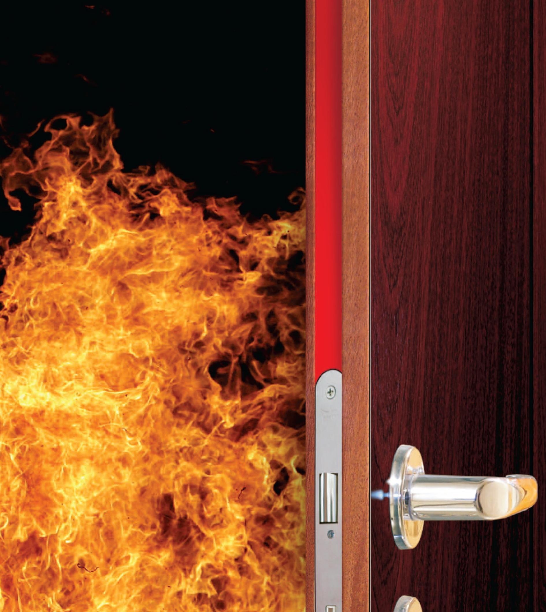 Огнестойкая дверь при пожаре