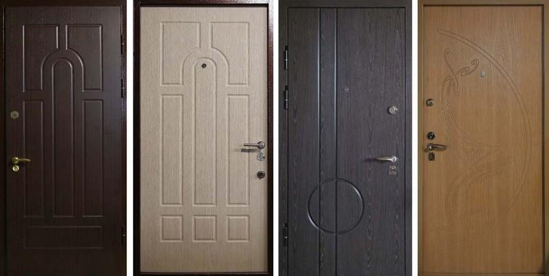 Различные варианты отделки дверей