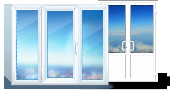 Дверь и окно из пластика