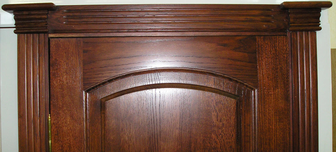 Поверхность двери из массива