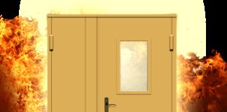 Дверь в облаке пламени