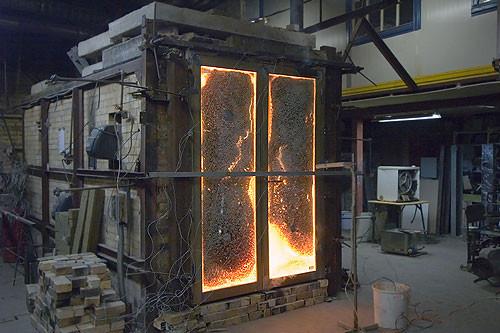 Испытание двери на огнеустойчивость