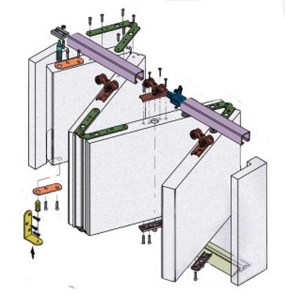 Механизм для складной двери
