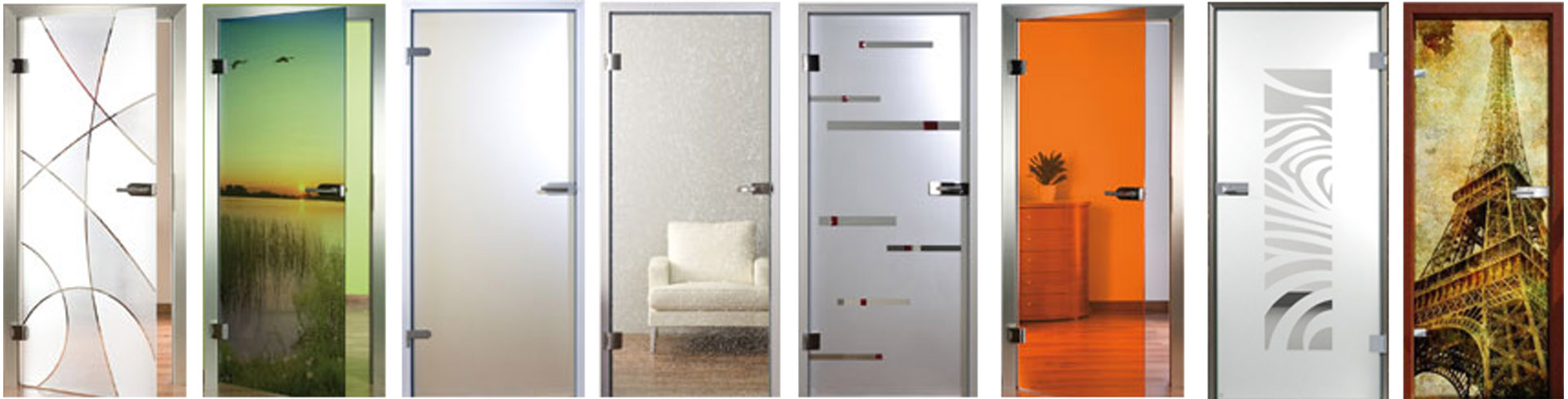 Стеклянные двери с рисунками