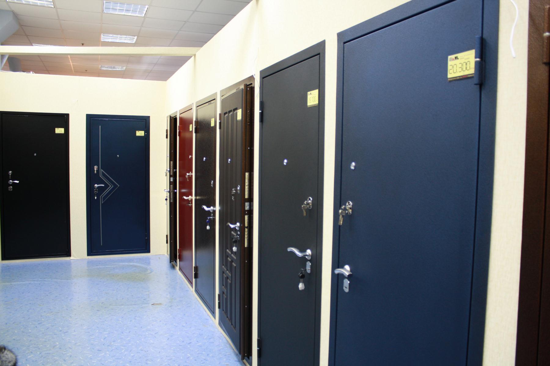 Металлические двери в салоне