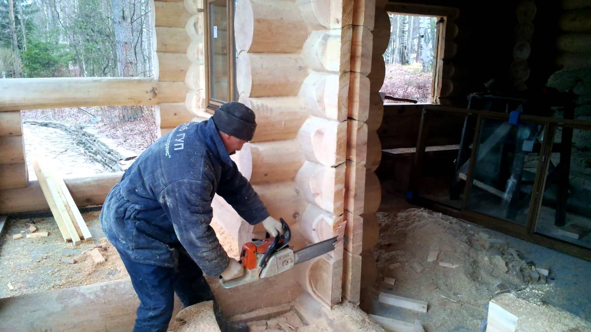Создание проема в деревянном доме под входную дверь