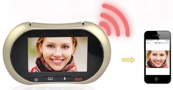 Передача видеосигнала камеры глазка на мобильный телефон