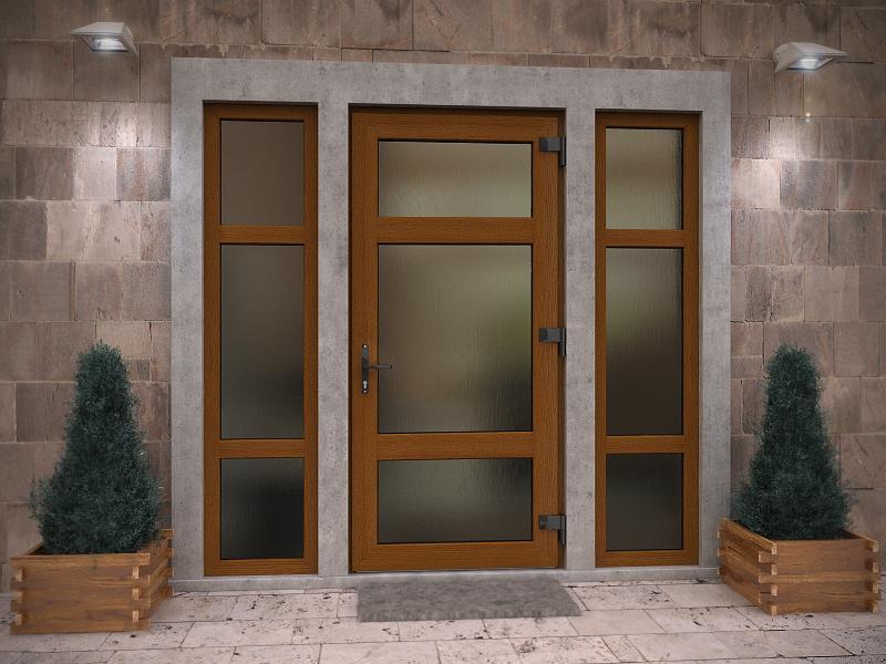 Входная дверь с стеклянными вставками