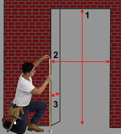 Замер проема двери