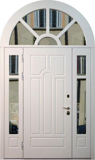 Входная дверь арочной формы