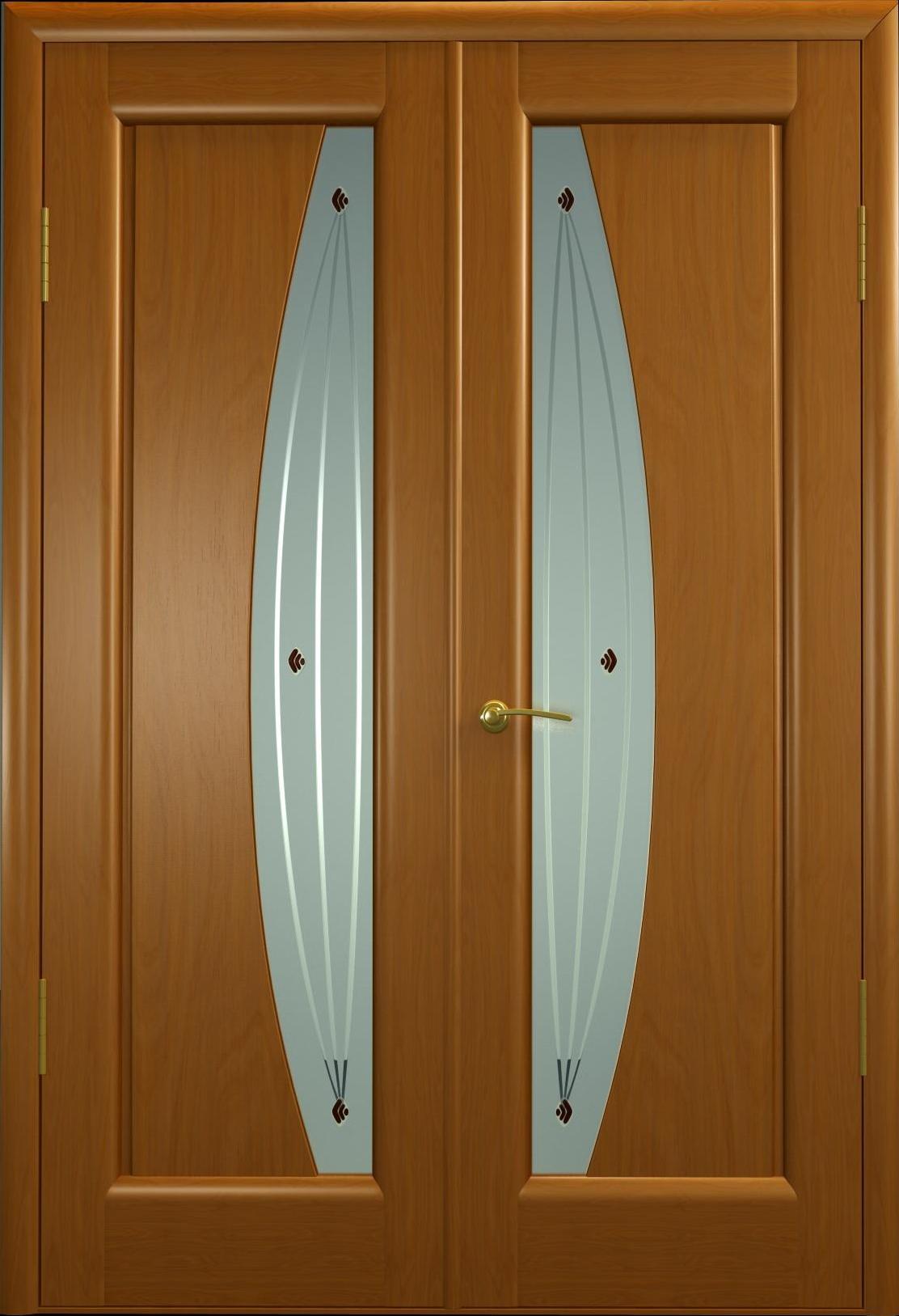 Двупольная дверь из дерева