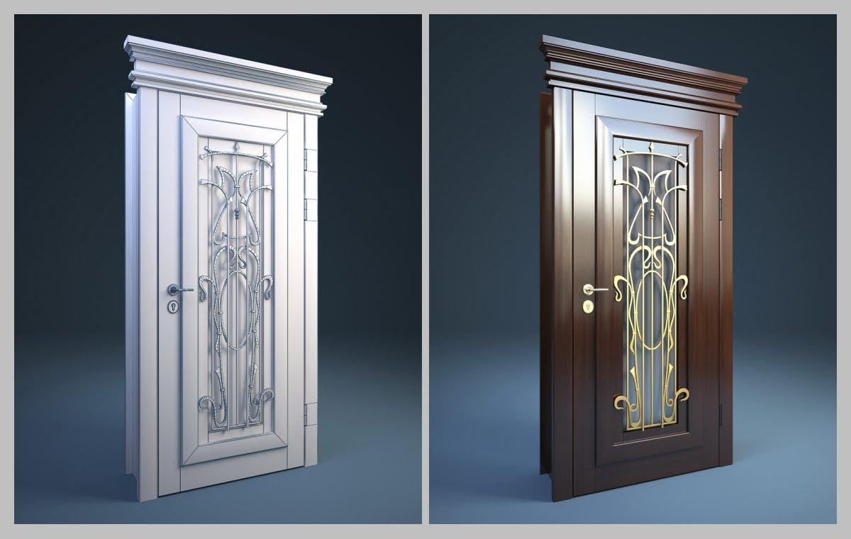 Различные модели кованных дверей