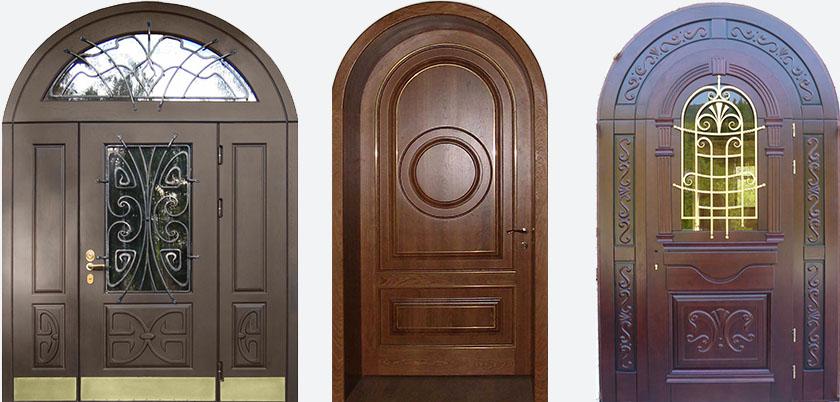 Входные двери арочной формы