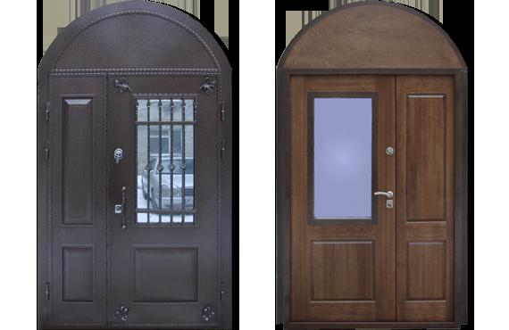 Дверь из металла арочной формы