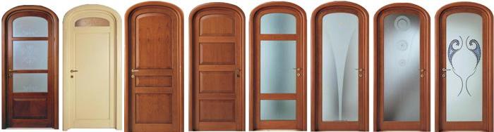 Различные модели арочных дверей