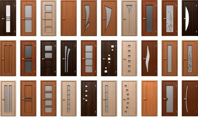 Варианты отделки дверей из МДФ
