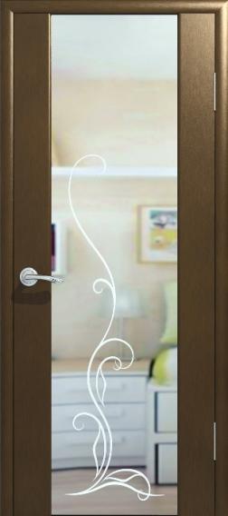 Модель двери с зеркальной вставкой