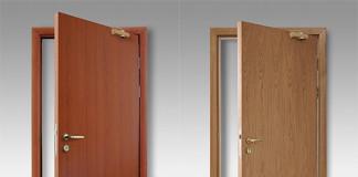Огнеустойчивые двери из дерева