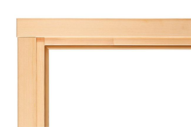 Элементы дверной коробки соединенные под прямым углом