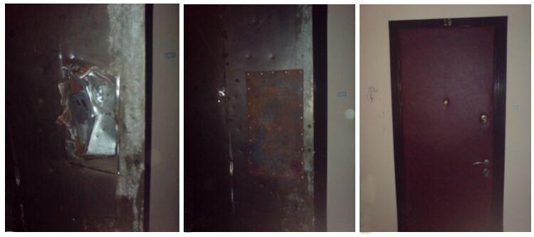Реставрация двери из металла