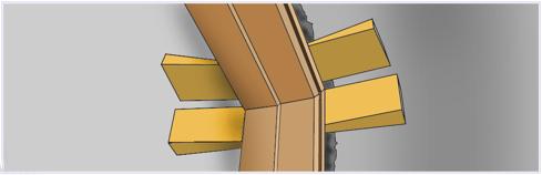 Фиксация дверной коробки