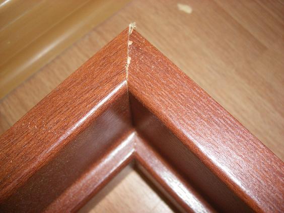 Соединение частей дверной коробки под углом в 45 градусов