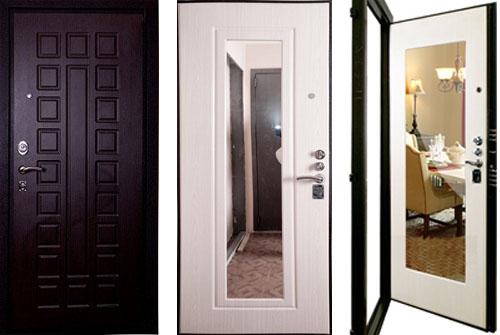 Входная дверь с металлической вставкой