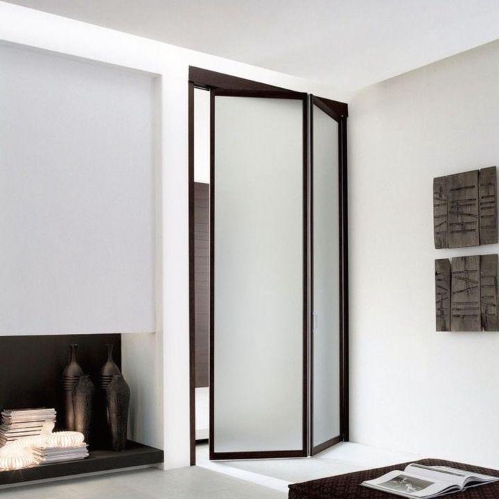 Дверь гармошка из стекла
