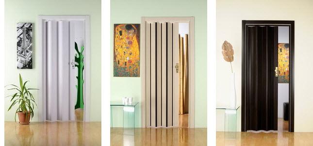 Модели дверей гармошка